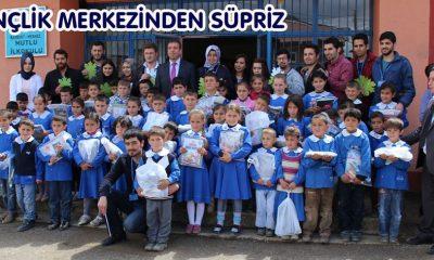 Gençlik Merkezinden Köy Okullarına Süpriz