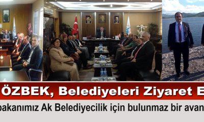 Milletvekili Özbek, Bayburt'taki belediyeleri ziyaret etti.