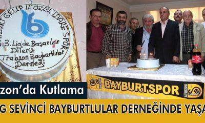 Trabzon Bayburtlular Derneğinden 3. Lig Kutlaması