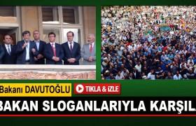 Davutoğlu, Bayburt'ta Başbakan Sloganlarıyla Karşılandı