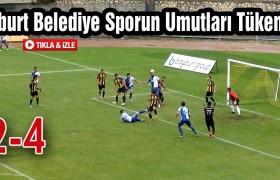 Bayburt Belediye Sporun Umutları Tükeniyor