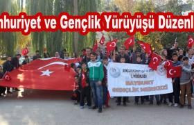 Cumhuriyet Ve Gençlik Yürüyüşü Düzenlendi