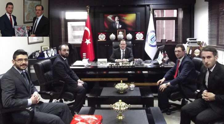 Bayburt Ülkü Ocaklarından Rektör Coşkun'a Ziyaret