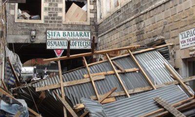 Rüzgar Bayburt'ta Çatıları Uçurdu Okulları Tatil Etti-Foto Haber