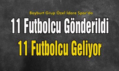 Bayburt Spor'da 11 Futbolcu Gönderildi…