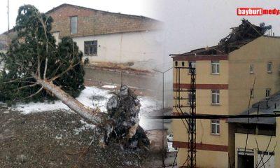 Rüzgar Demirözü İlçesini de Vurdu… Foto Galeri