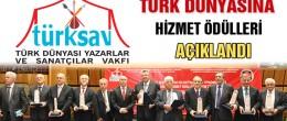Türk Dünyasına Hizmet Ödülleri Açıklandı