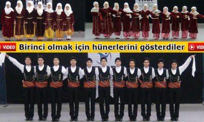 Halk Oyunlarında Birincilik İçin Yarıştılar-Foto Haber