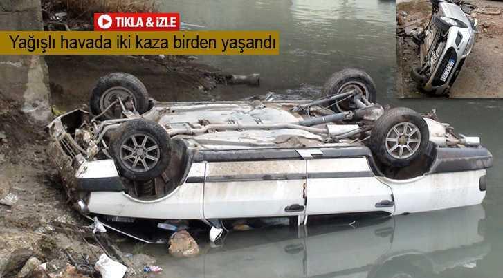 Kaza Yapan Araç Çoruh Nehrine Uçtu