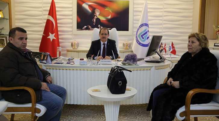 Kazım Erdem'in Ailesinden Rektör Coşkun'a Ziyaret