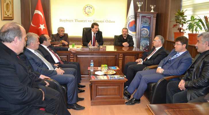 Ak Parti Adayları Ağbal ve Özbek'ten TSO Ziyareti