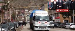 Bayburt'tan Suriyede'ki Türkmenlere Bir Tır Yardım Malzemesi