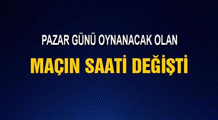 Bayburt Anadolu Üsküdar Maç Saati Değişti