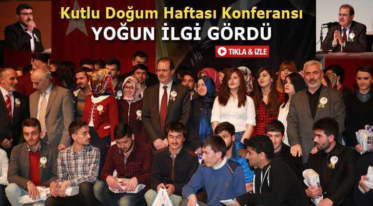 Rektör Coşkun'dan Kutlu Doğum Haftası Konferansı