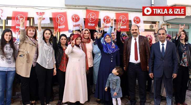 MHP Kadın Kolları Seçim Bürosunu Açtı