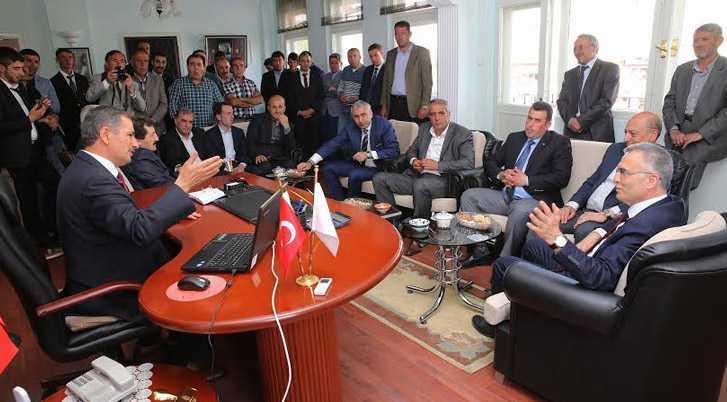 Ağbal ve Bilgin Aydıntepe Belediye Başkanını Ziyaret Etti