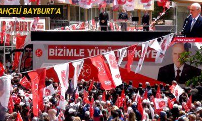 MHP Lideri Bahçeli, Bayburt'ta Coşkuyla Karşılandı