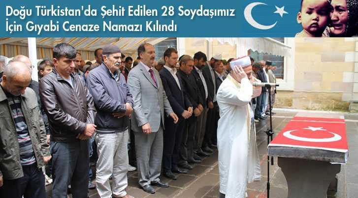 28 Uygur Türkü İçin Gıyabi Cenaze Namazı Kılındı