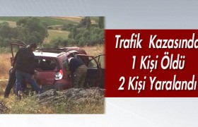 Meydana Gelen Trafik  Kazasında 1 Kişi Öldü 2 Kişi Yaralandı