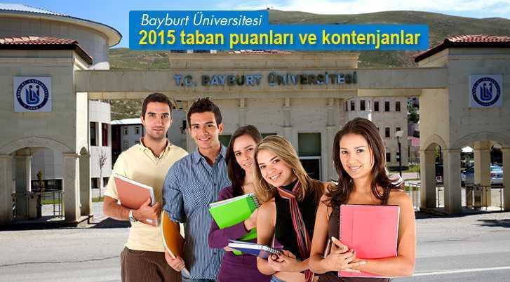 Bayburt Üniversitesi 2015 Taban Puanları ve Kontenjanları