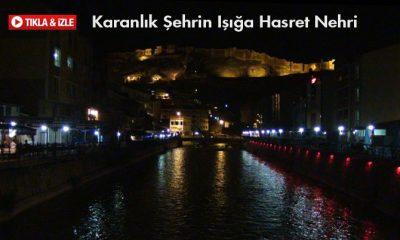 Karanlıkta Gizlenen Çoruh Nehri-Foto haber