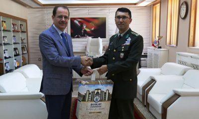 Garnizon Komutanı Yiğit'ten Rektör Coşkun'a Veda Ziyareti