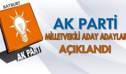 Bayburt AK Parti Milletvekili Aday Adaylarının İsimleri Açıklandı