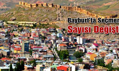 Bayburt'ta Seçmen Sayısı Değişti