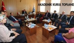 Bayburt Üniversitesinde Akademik Kurul Toplantıları Yapıldı