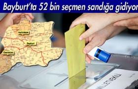 Bayburt'ta 52 Bin Seçmen Sandığa Gidiyor