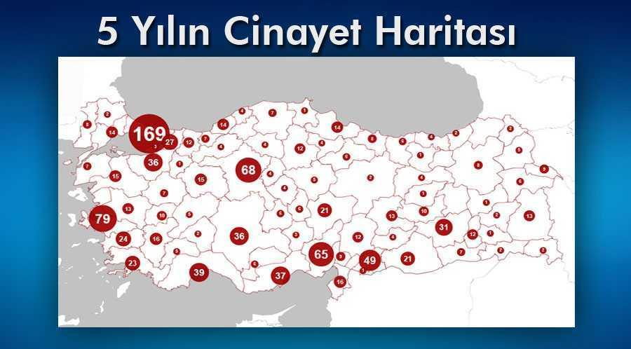 Türkiye'de Sadece 4 İlde Kadın Cinayeti İşlenmedi