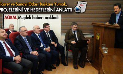 Bakan Ağbal,Ticaret Odasında Müjdeli Haberi Açıkladı