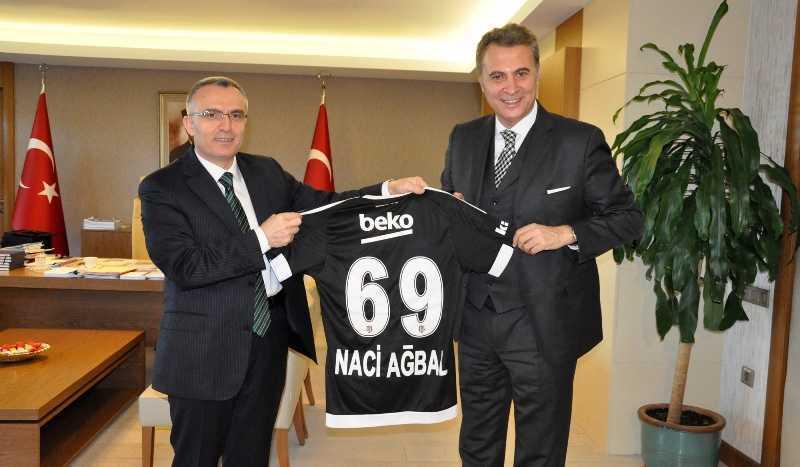 Fikret Orman, Maliye Bakanı Naci Ağbal'ı Ziyaret Etti