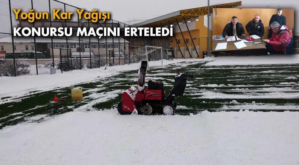 Yoğun Kar Yağışı Konursuspor Maçını Erteledi