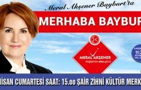 Meral Akşener Bayburt'a Geliyor