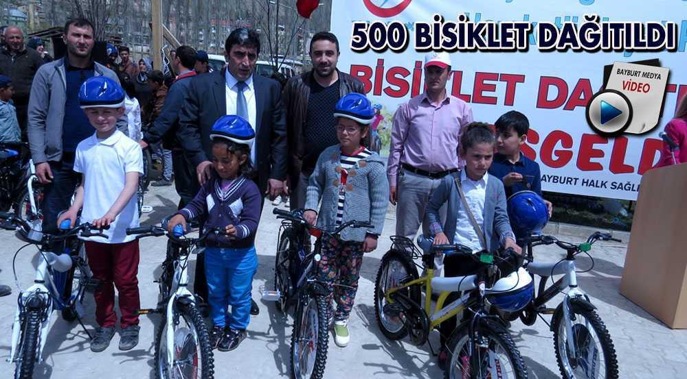 Bayburt'ta Öğrencilere 500 Bisiklet Dağıtıldı