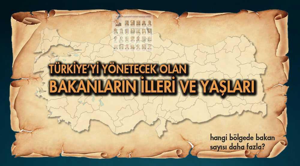Türkiye'yi Yönetecek Olan Bakanların İlleri ve Yaşları…