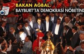 Bakan Ağbal Bayburt'ta Demokrasi Nöbetinde…