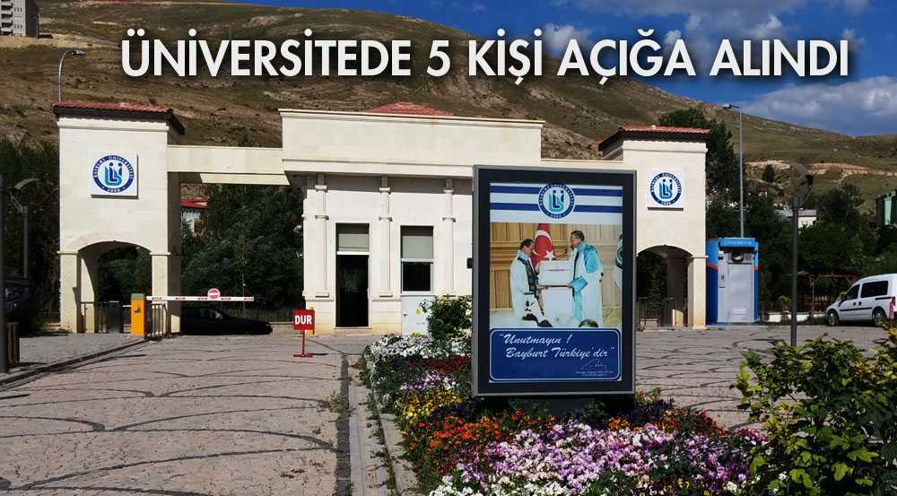 Bayburt Üniversitesinde 5 kişi Açığa Alındı