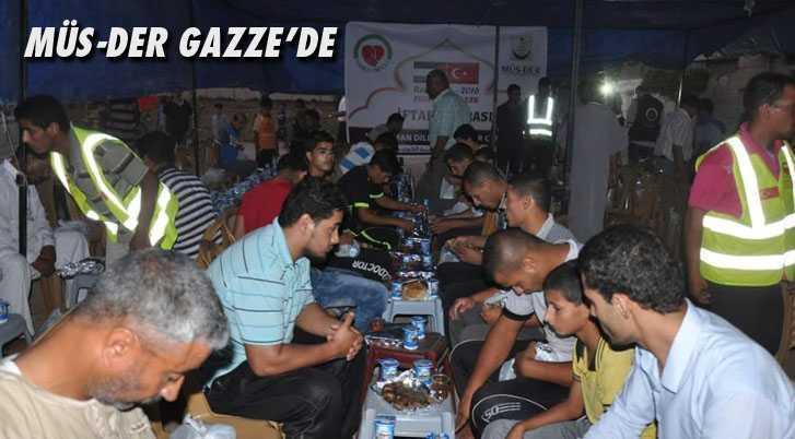 MÜS-DER Gazze'de Yardımlarına Devam Ediyor