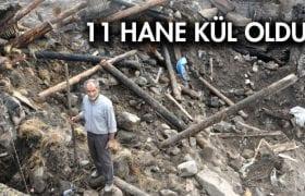 Bayburt'taki Yangında 11 Ev Kullanılamaz Hale Geldi