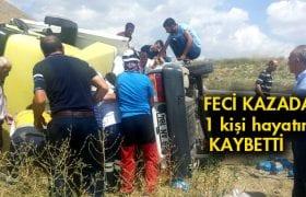 Tır'la Çarpışan Araç Sürücüsü Hayatını Kaybetti