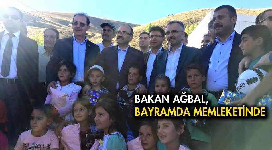 Maliye Bakanı Ağbal, Bayramda Memleketinde