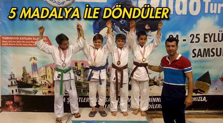 Bayburtlu Judocular 5 Madalya İle Döndüler