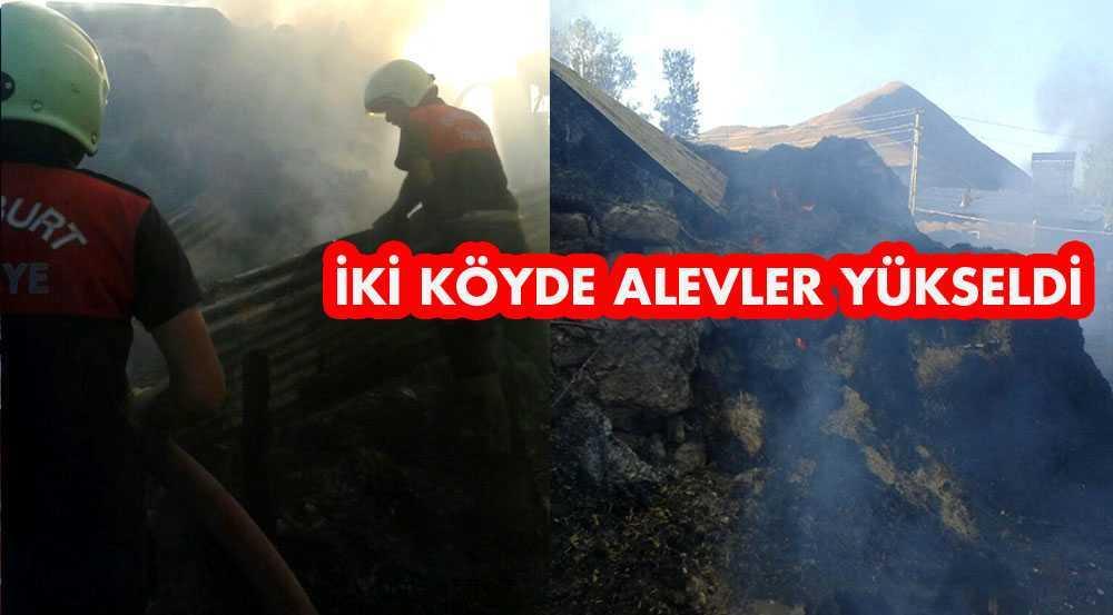 İki Köyde Alevler Yükseldi