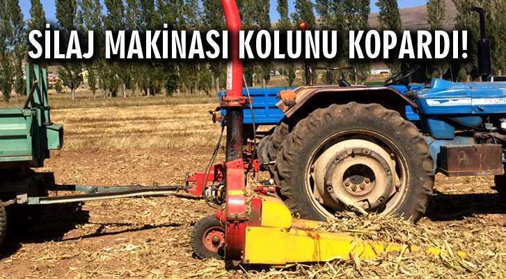 Mısır Silaj Makinası Kolunu Kopardı!