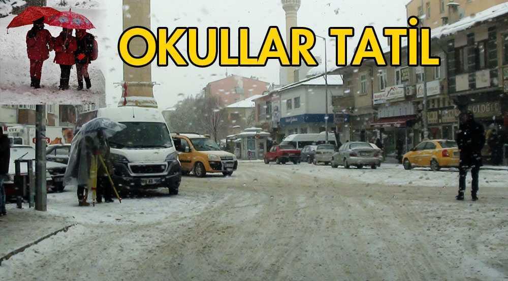 Bayburt'ta, Yoğun Kar Yine Tatil Getirdi