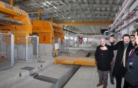 Bayburt Doğal Taş Fabrikası Deneme Üretimine Başladı
