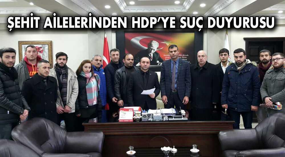 Şehit Ailelerinden HDP'ye Suç Duyurusu