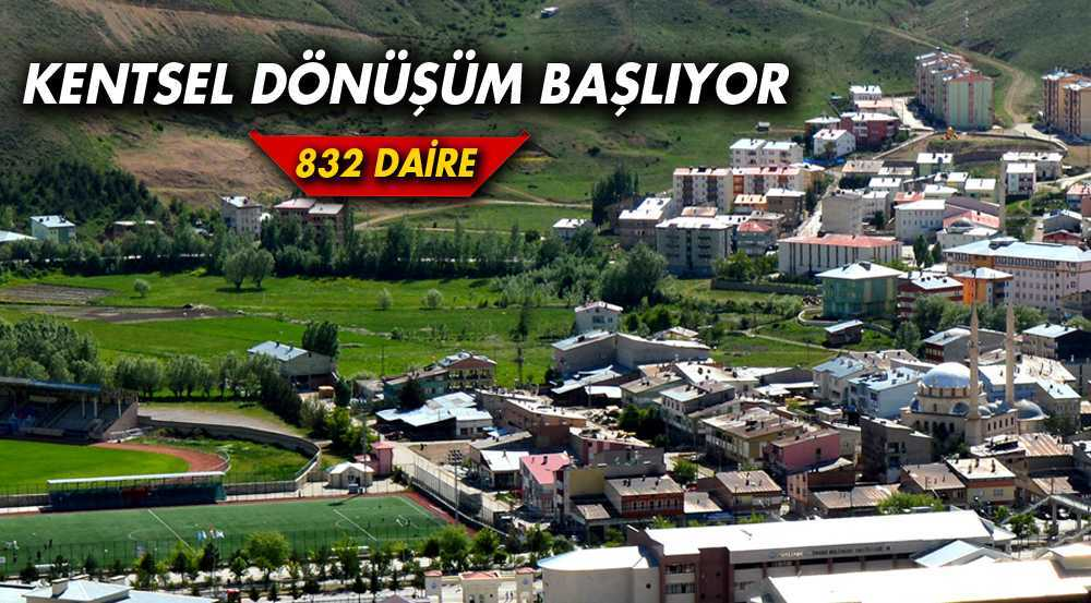 Bayburt'ta  Kentsel Dönüşüm Çalışmaları Başladı